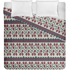 Winter Pattern 5 Duvet Cover Double Side (king Size) by tarastyle