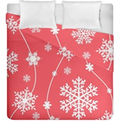 Winter Pattern 9 Duvet Cover Double Side (king Size) by tarastyle