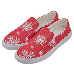 Winter Pattern 9 Men s Canvas Slip Ons by tarastyle
