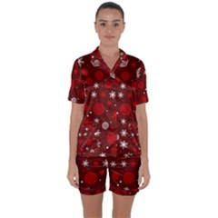 Winter Pattern 14 Satin Short Sleeve Pyjamas Set