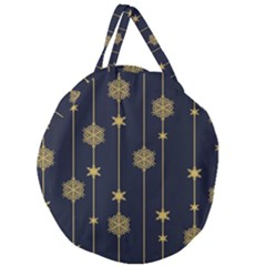 Winter Pattern 15 Giant Round Zipper Tote by tarastyle