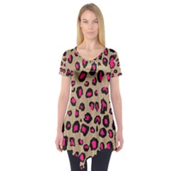 Golden Leopard Short Sleeve Tunic