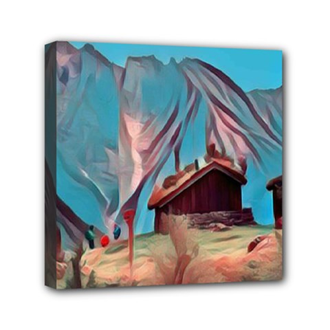Modern Norway Painting Mini Canvas 6  X 6  by 8fugoso