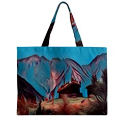 Modern Norway Painting Mini Tote Bag by 8fugoso
