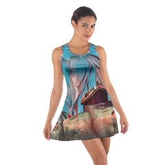 Modern Norway Painting Cotton Racerback Dress by 8fugoso
