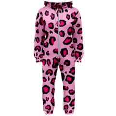 Pink Leopard Hooded Jumpsuit (ladies)