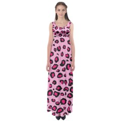 Pink Leopard Empire Waist Maxi Dress