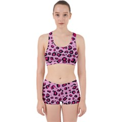 Pink Leopard Work It Out Sports Bra Set
