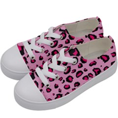 Pink Leopard Kids  Low Top Canvas Sneakers by TRENDYcouture