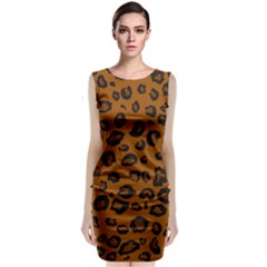 Dark Leopard Classic Sleeveless Midi Dress by TRENDYcouture