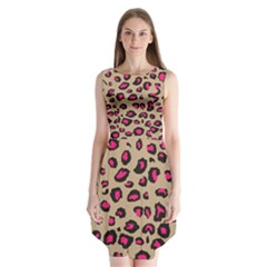 Pink Leopard 2 Sleeveless Chiffon Dress