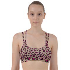 Pink Leopard 2 Line Them Up Sports Bra