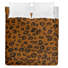 Dark Leopard Duvet Cover Double Side (queen Size) by DreamCanvas