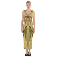 Art Nouveau Fitted Maxi Dress by 8fugoso
