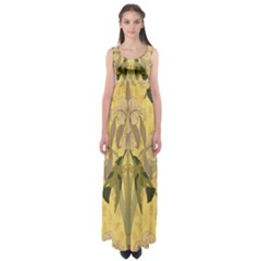 Art Nouveau Empire Waist Maxi Dress