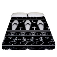Halloween Pattern Fitted Sheet (king Size)