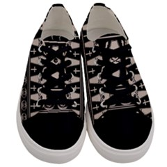 Halloween Pattern Men s Low Top Canvas Sneakers