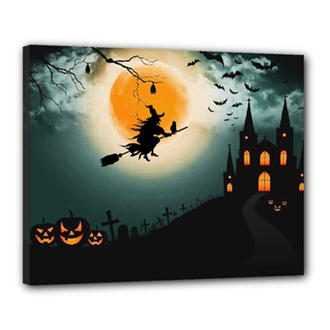 Halloween Landscape Canvas 20  X 16  by ValentinaDesign
