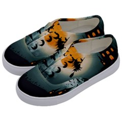Halloween Landscape Kids  Classic Low Top Sneakers by ValentinaDesign