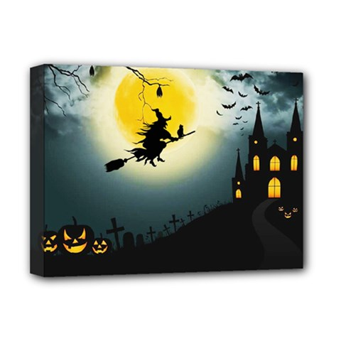 Halloween Landscape Deluxe Canvas 16  X 12   by ValentinaDesign