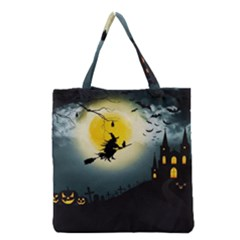 Halloween Landscape Grocery Tote Bag by ValentinaDesign
