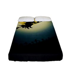 Halloween Landscape Fitted Sheet (full/ Double Size) by ValentinaDesign