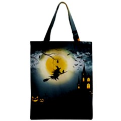 Halloween Landscape Zipper Classic Tote Bag by ValentinaDesign
