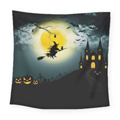 Halloween Landscape Square Tapestry (large) by ValentinaDesign