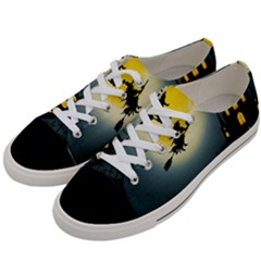Halloween Landscape Women s Low Top Canvas Sneakers by ValentinaDesign