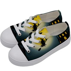 Halloween Landscape Kids  Low Top Canvas Sneakers by ValentinaDesign