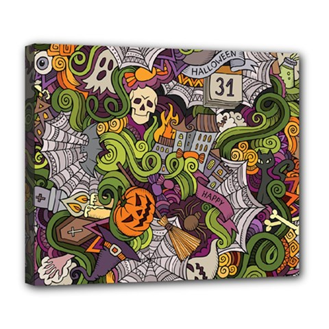 Halloween Pattern Deluxe Canvas 24  X 20   by ValentinaDesign