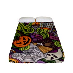 Halloween Pattern Fitted Sheet (full/ Double Size) by ValentinaDesign