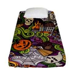 Halloween Pattern Fitted Sheet (single Size) by ValentinaDesign