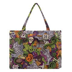 Halloween Pattern Medium Tote Bag by ValentinaDesign