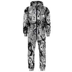 Halloween Pattern Hooded Jumpsuit (men)  by ValentinaDesign