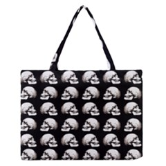 Halloween Skull Pattern Zipper Medium Tote Bag by ValentinaDesign