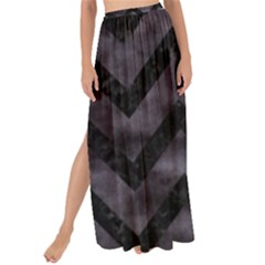 Chevron9 Black Marble & Black Watercolor (r) Maxi Chiffon Tie Up Sarong