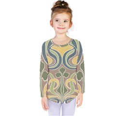 Art Nouveau Kids  Long Sleeve Tee by 8fugoso