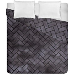 Brick2 Black Marble & Black Watercolor (r) Duvet Cover Double Side (california King Size) by trendistuff