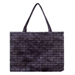 Brick1 Black Marble & Black Watercolor (r) Medium Tote Bag by trendistuff