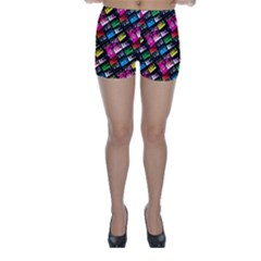 Pattern Colorfulcassettes Icreate Skinny Shorts