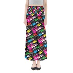 Pattern Colorfulcassettes Icreate Full Length Maxi Skirt