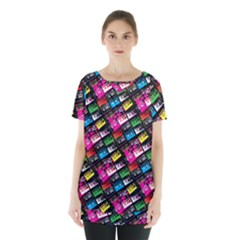 Pattern Colorfulcassettes Icreate Skirt Hem Sports Top