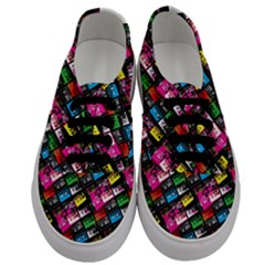 Pattern Colorfulcassettes Icreate Men s Classic Low Top Sneakers