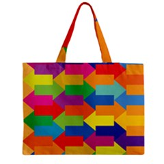 Arrow Rainbow Orange Blue Yellow Red Purple Green Zipper Medium Tote Bag by Mariart