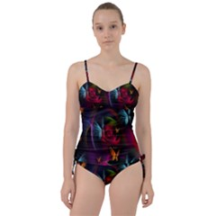 Beautiful Butterflies Rainbow Space Sweetheart Tankini Set