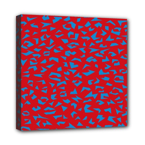 Blue Red Space Galaxy Mini Canvas 8  X 8  by Mariart