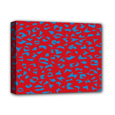 Blue Red Space Galaxy Deluxe Canvas 14  X 11