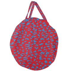 Blue Red Space Galaxy Giant Round Zipper Tote by Mariart