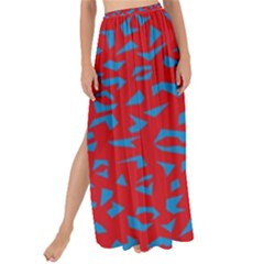 Blue Red Space Galaxy Maxi Chiffon Tie Up Sarong